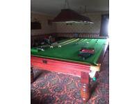 Full size Snooker table with accessories