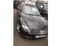 Mazda RX8 2004 Coupe, 1.3l petrol Black, Low Milage 41000, Full Leather Interior - kirkcaldy