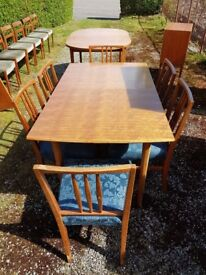 Mid centuey retro dining table and chairs