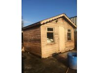 13ft x 10ft Log Cabin For sale Fully insulated (garden shed)