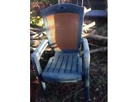 Sturdy garden chairs x 2