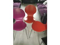 Free dining room chairs multi coloured