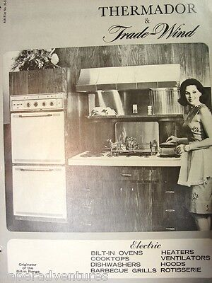 1966 THERMADOR Trade Wind KITCHEN APPLIANCES Ovens Cook Tops VENTS Fans Catalog