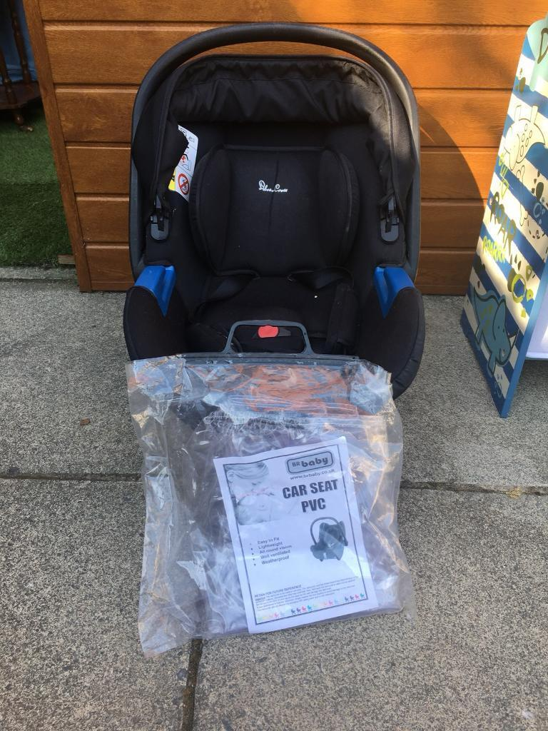 Silver Cross Baby Car Seat With Rain Cover