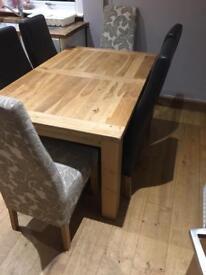 Solid oak dinner table