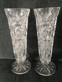 Two small decorative glass vases