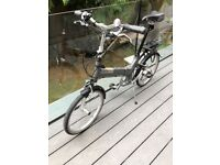 Giant Halfway Folding Bike Silver - Good condition, hardly used