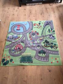 Kids floor town road mat
