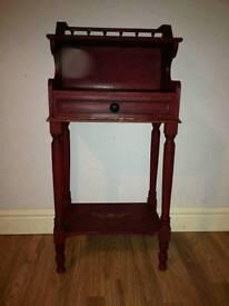 Elegant wooden telephone table