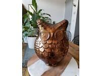 Broze Glass Owl Ornament