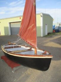 9ft4 grp traditional sailing tender