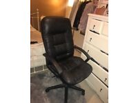 Sophisticated leather desk chair