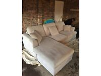 Stone colour corner Sofa