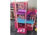 Girls barbie house