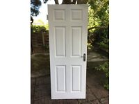 6 Panel Grained Internal Doors with Chrome Victorian Handles - 15 available - collect Guildford area