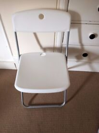 White Light Weight Folding Chair