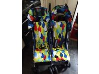 Cosatto duo to and fro twin double buggy pushchair