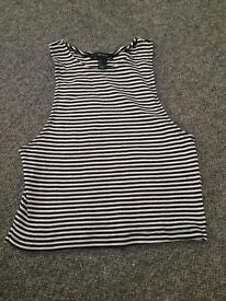 Forever 21 stripped cropped top