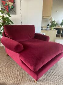 Beautiful Red Next Love Seat
