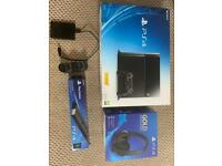 PS4 with accessories