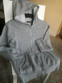 Grey hoodie 12-13 years - as new