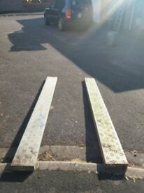2 metal scaffold boards