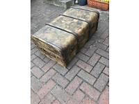 Shabby chic retro trunk