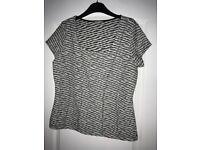 Womans black & white top Size 14