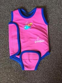 Baby girl wetsuit, 0-6 months