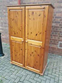 Quality heavy pine wardrobe 2 availabile & storage box