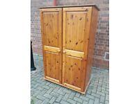 Quality heavy pine wardrobe 2 availabile & storage box