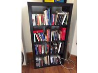 Black IKEA 8 section Kallax storage unit