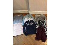 Bundle of 10 girls jumpers and tops sizes 11-13