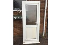Upvc white external door