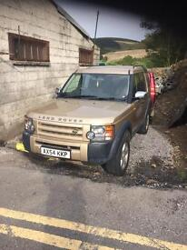 Land Rover discovery 3 2.7 tdv6 manual gold reduced quick sale