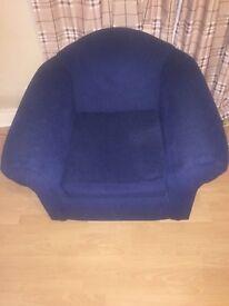 Dark blue sofa chair