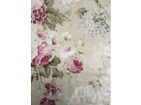 Dunelm Fully Lined Traditional Rose Print Curtains 66 x 72