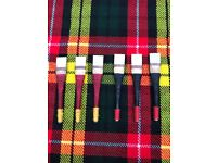 Uilleann Bagpipes Chanter Reeds of Spanish Cane 6 pcs Black//uillean pipes Reeds