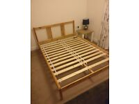 Ikea FJELLSE Double Bed Frame and Mattress (if wanted)