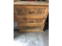 Mexican pine chest of drawers -Sevusinon