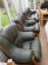 Leather 3 piece