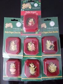x 7 Mint Condition Genuine Unopened Pocket Dragon Brooches Brooch