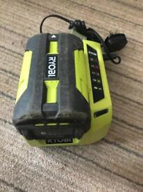 Ryobi lithium 36V battery and charger