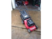 A Variety of Self Propelled and Hand Propelled Rotary Lawn Mowers with Grass Box from £100