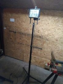 2 out side or inside work light extendable folds flat for storage .