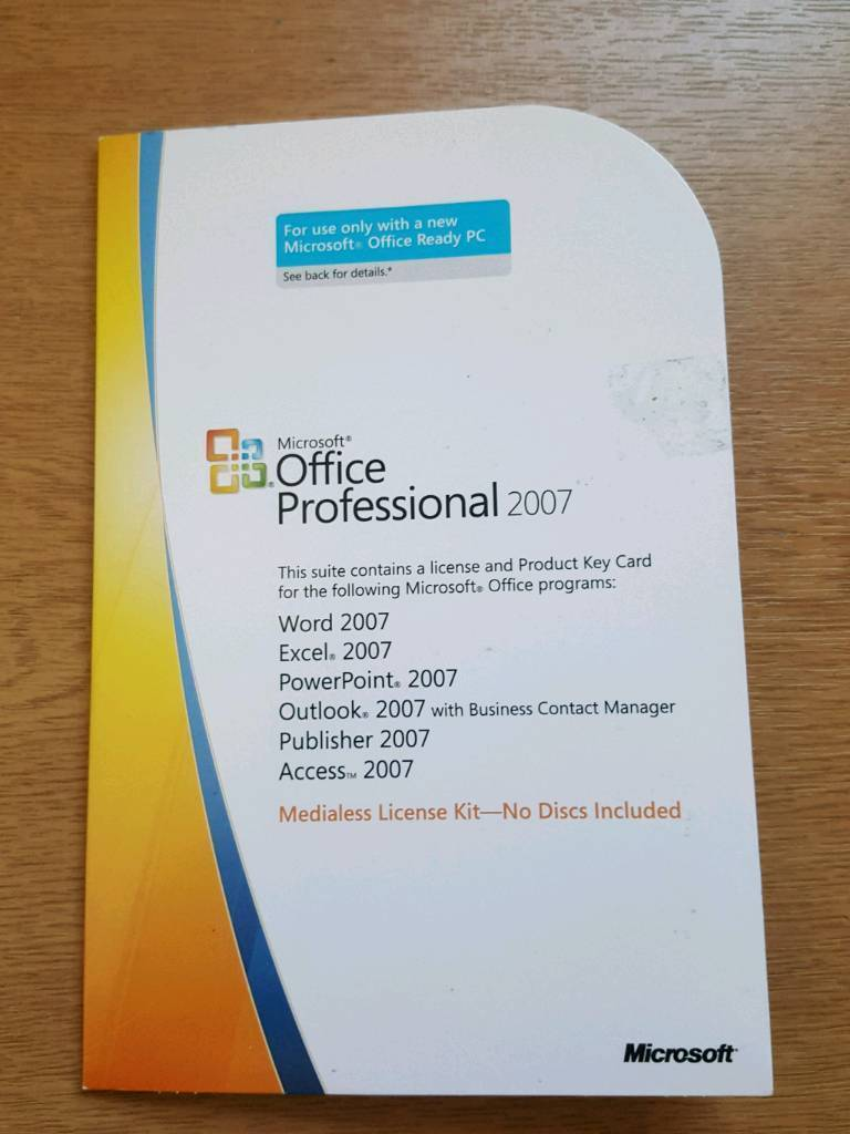 serial number microsoft office 2007 professional