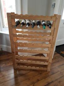 Wine Rack Pine to hold 56 bottles - 8 racks