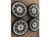 "4 Genuine BMW 19"" Wheels with Tyres"