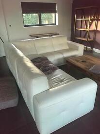 Cream L Shape Sofa