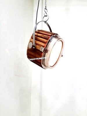 Vintage Marine Nautical Natural Wooden Pendant Hanging Ceiling Light Decor Item